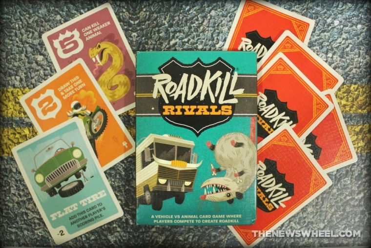 Pygmy Giraffe Roadkill Rivals card game review components