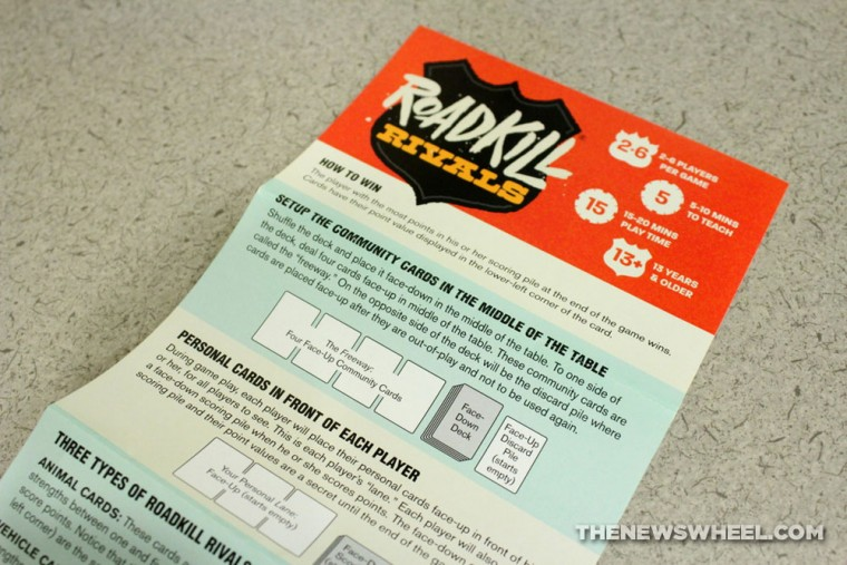 Pygmy Giraffe Roadkill Rivals card game review instructions