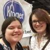 Rebecca and Caitlin at Cincy Auto Show