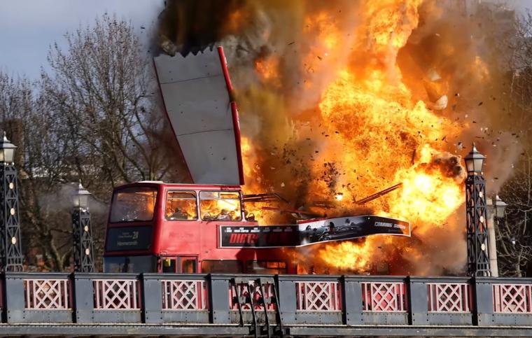 Unexpected London Bus Explosion