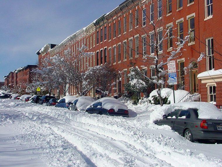 union square baltimore snow