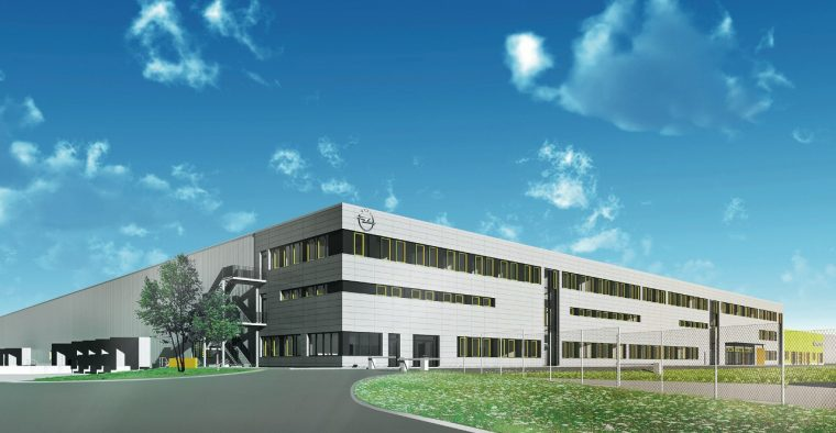 A rendering of Opel's spare parts distribution center