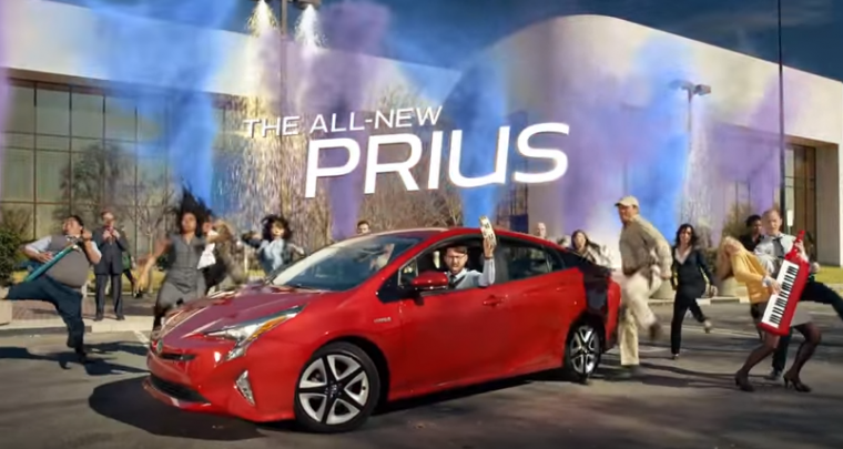 toyota prius heck on wheels commercial