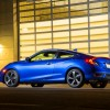 The 2016 Honda Civic Coupe features a sporty exterior design and it's available with a new turbo engine