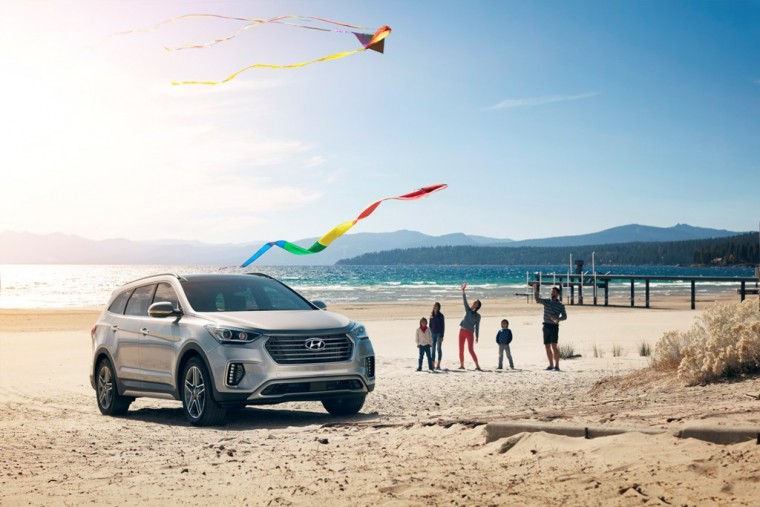 2017 Hyundai Santa Fe Model Overview beach