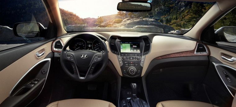 2017 Hyundai Santa Fe Model Overview interior