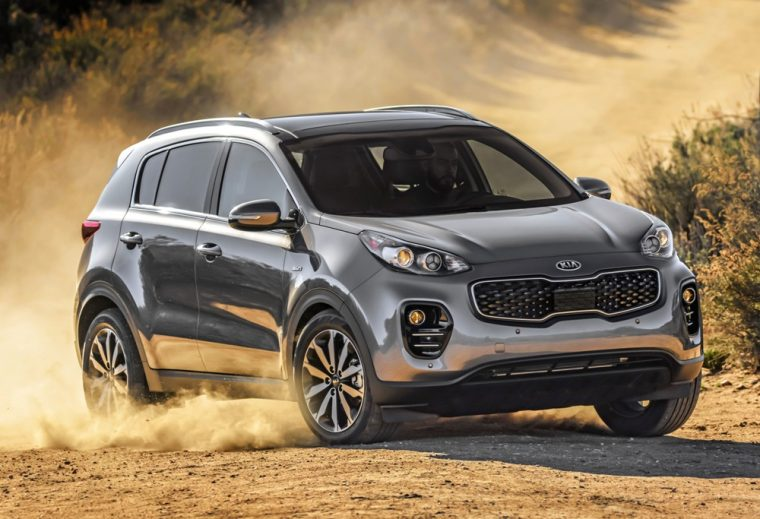 The stylishly designed 2017 Kia Sportage crossover offers plenty of seating, as well as advanced technology, all for a starting price of just $22,990