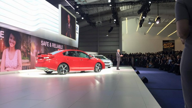2017 Subaru Impreza Sedan and the 2017 Subaru Impreza 5-Door new york auto show