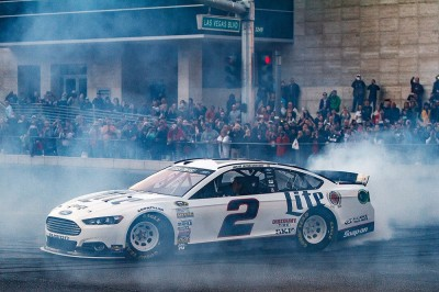Keselowski piloted his Ford Fusion to victory in Las Vegas