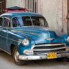 Cuban Classic Car Blue with Cargo Holder