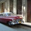 Cuban Classic Car Red