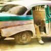 Cuban Classic Car Side Shot