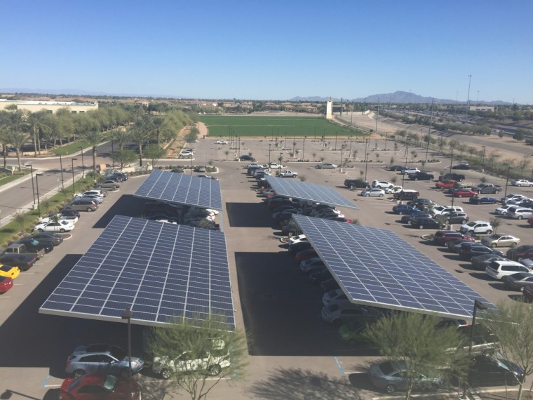 General Motors' IT Innovation Center in Chandler, Arizona uses solar to power 9% of its monthly energy usage