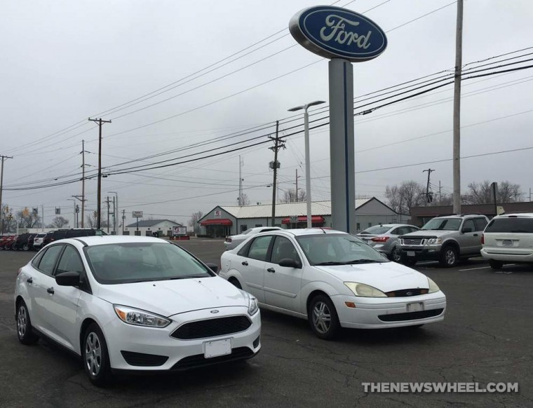 2015 Ford Focus with a 2002 Ford Focus