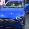 New York Auto Show Hyundai presentation IONIQ blue hybrid model