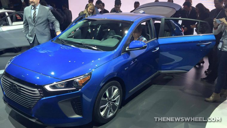 New York Auto Show Hyundai presentation IONIQ hybrid car