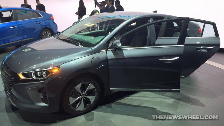 New York Auto Show Hyundai presentation IONIQ plug in hybrid grey