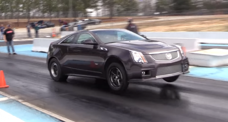 This Cadillac Cts V Coupe Covered A Quarter Mile Is Less Than 10 Seconds
