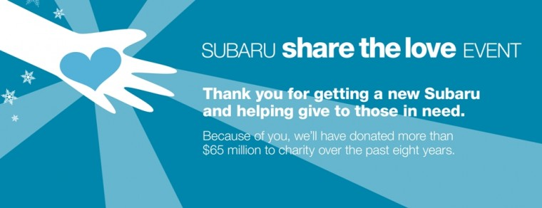 Subaru's Share the Love initiative brought in nearly $20 million to charities nationwide