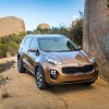 The stylishly designed 2017 Kia Sportage crossover offers plenty of seating, as well as advanced technology, all for a starting price of $22,990
