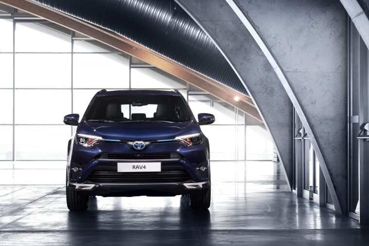 Introducing the Toyota RAV4 Hybrid Sapphire, currently on display at the Geneva Motor Show