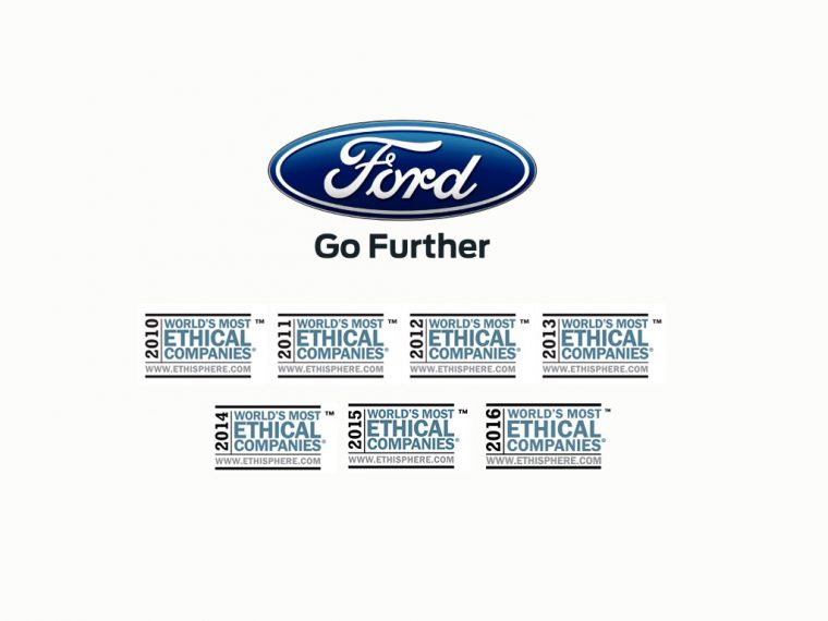 Ford/Ethisphere 2016 World's Most Ethical Companies