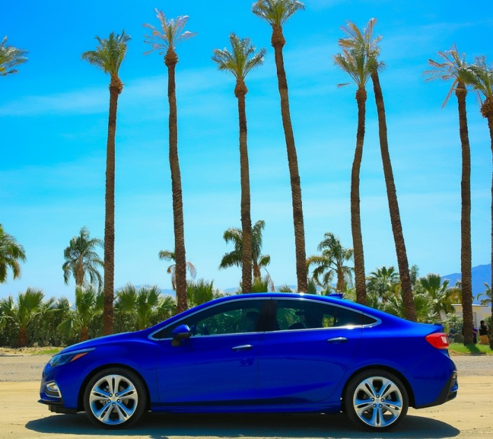The 2016 Chevrolet Cruze is good for an EPA-estimated 42 mpg on the highway, comes with a turbo engine, and carries a starting MSRP of $16,620