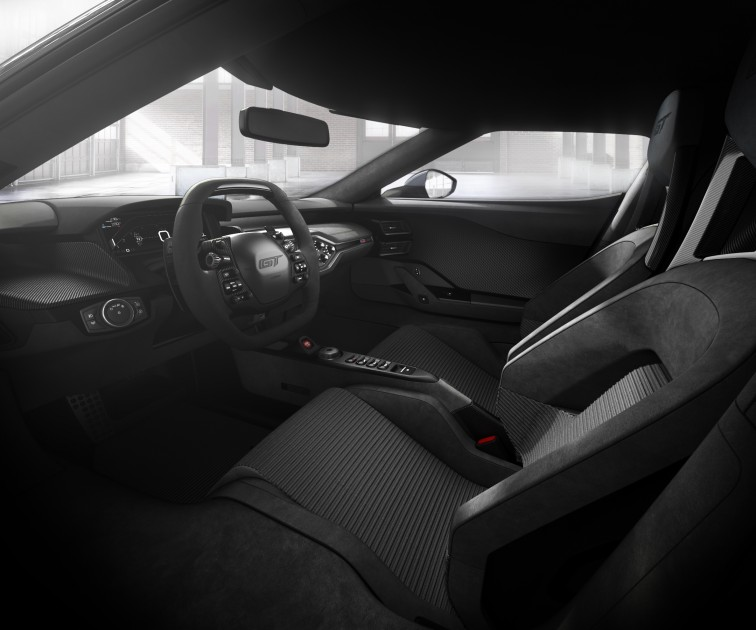 2017 Ford GT interior in Dark Energy