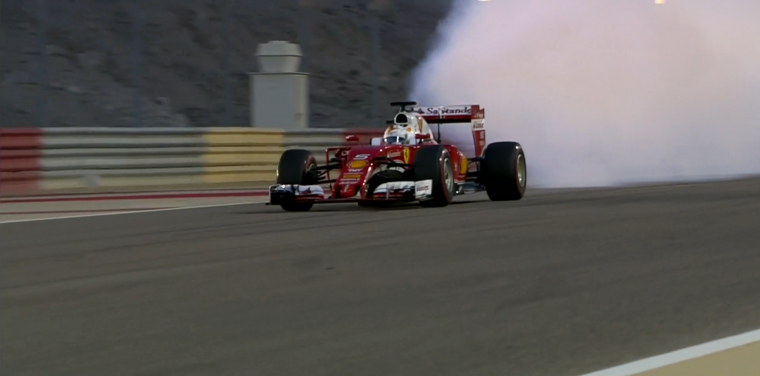 Vettel's smoking car