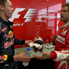 Vettel and Kvyat argue