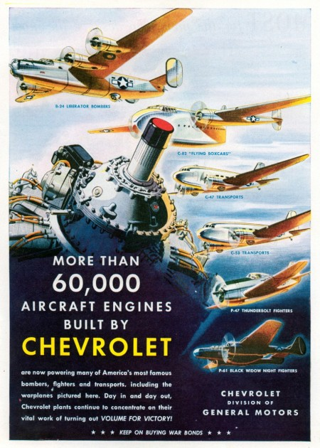 Chevrolet WWII poster