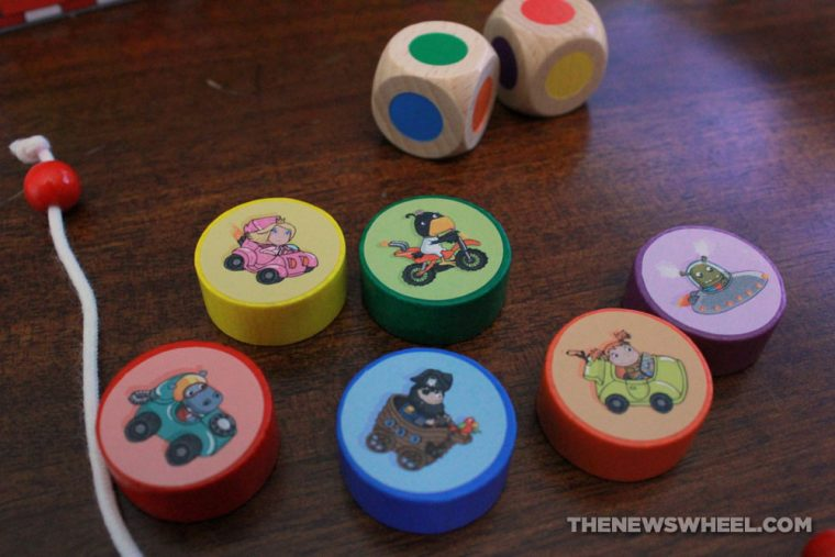 Crash Cup Karambolage board game from HABA review pieces