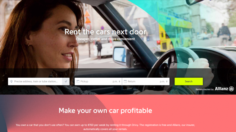 drivy expansion aibnb car rental europe