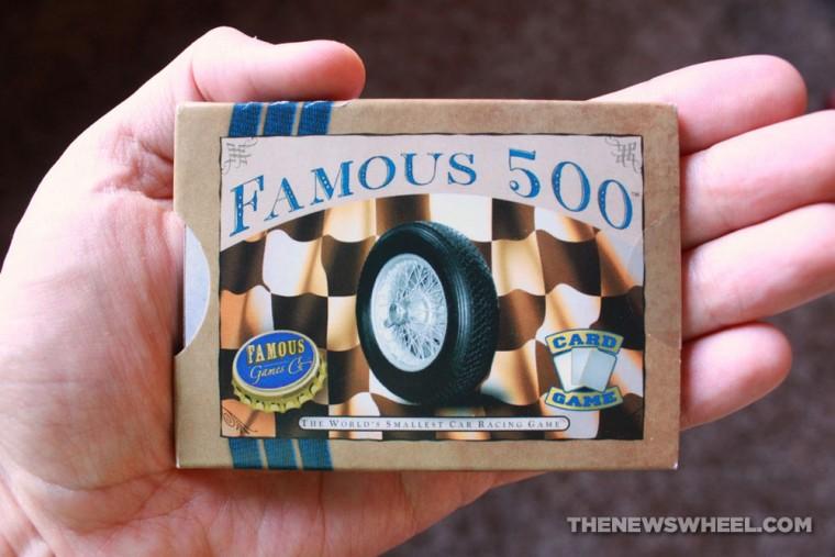 Famous 500 racing card game box