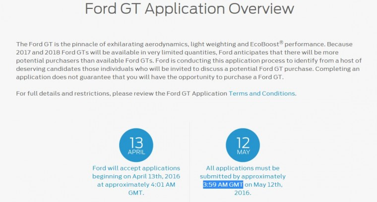Ford GT Application Overview