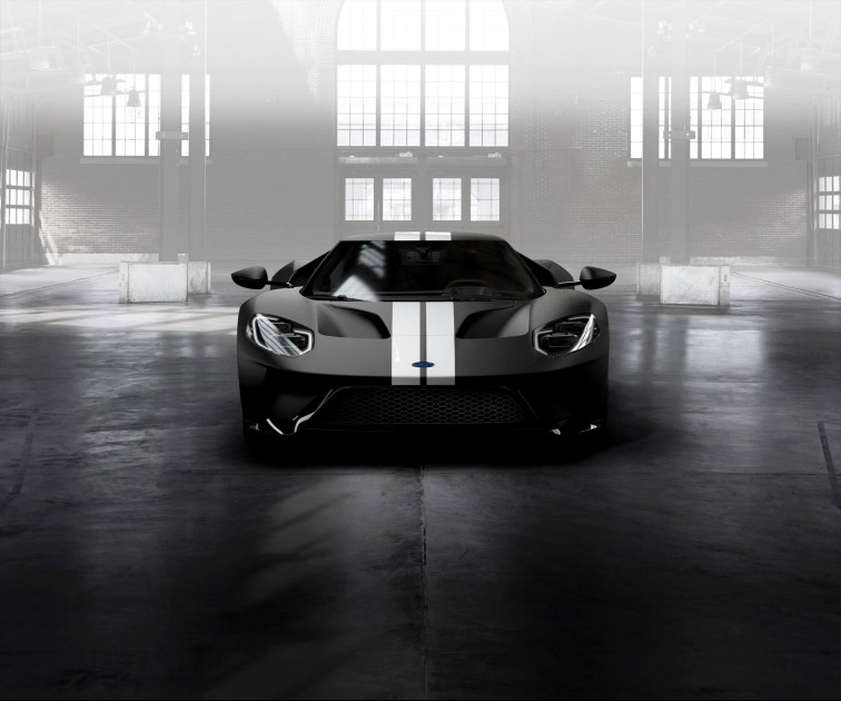 Ford GT Frozen White Stripes