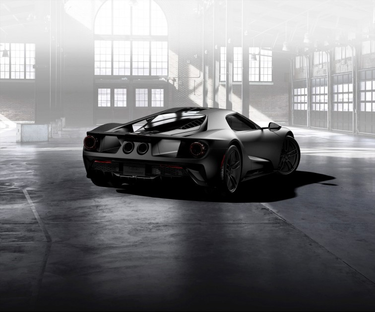 Ford GT Gloss Carbon Fiber lowers back