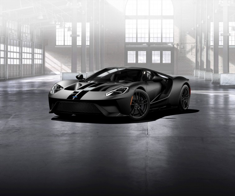 Ford GT Gloss Carbon Fiber lowers front
