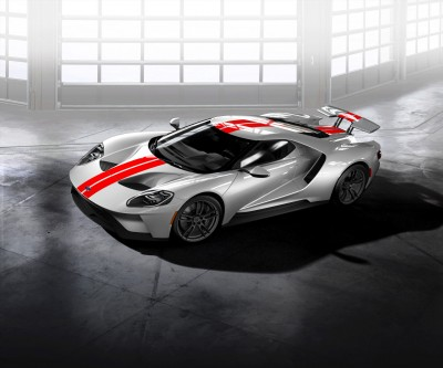 Ford GT Graphite wheels with Black lug nuts
