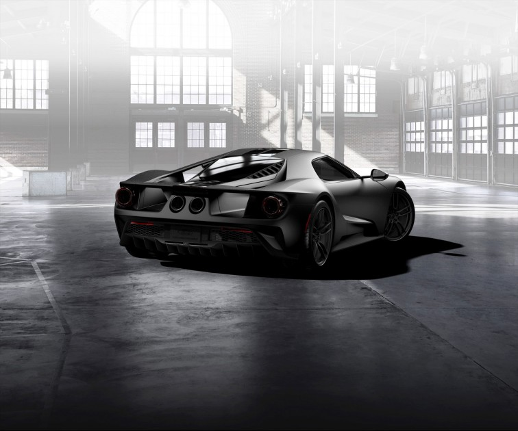Ford GT Matte Carbon Fiber lowers back