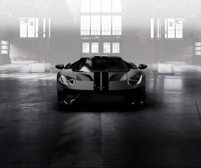 Ford GT Shadow Black Stripes