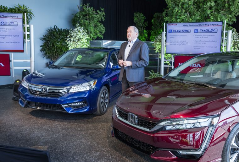 Honda Vp John Mendel Announces The Clarity Series Right And 2017 Accord