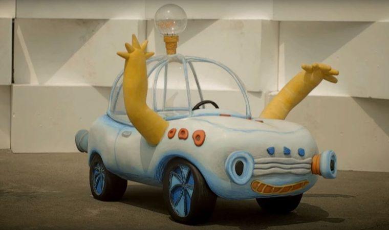 Hyundai Brilliant Kids Motor Show sculpture car display