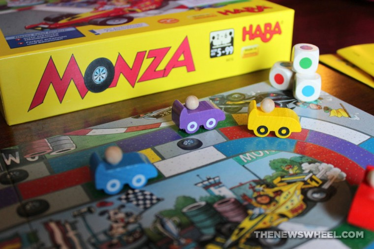 Monza children's board game from HABA review racing