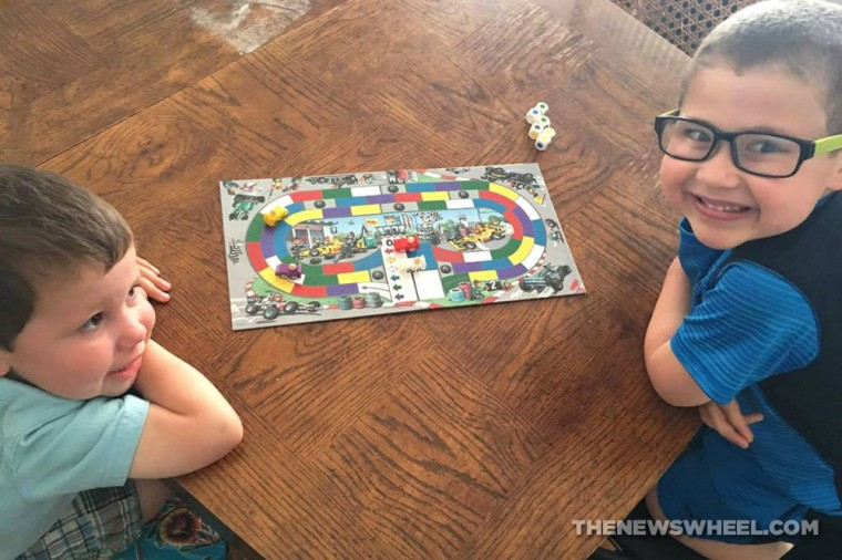 Monza children's racing board game from HAHA playing