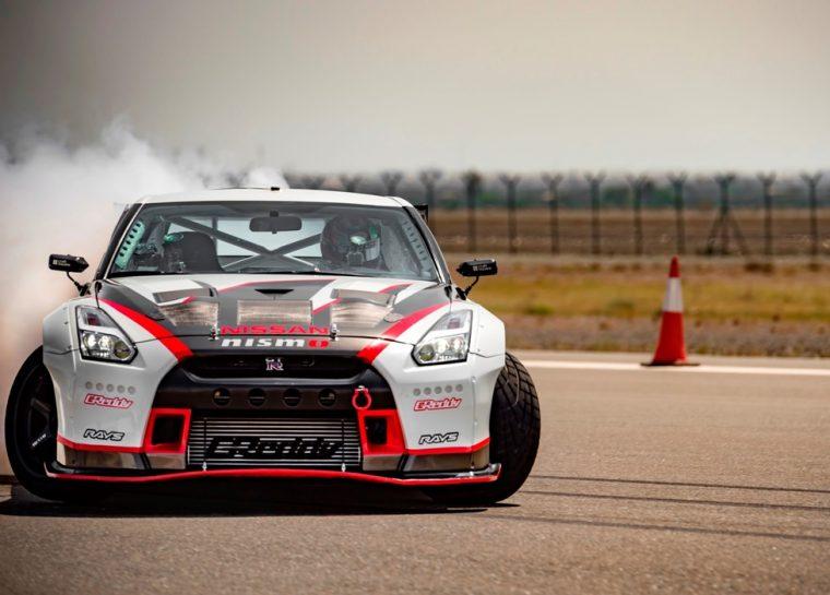 Nissan GT-R drifting