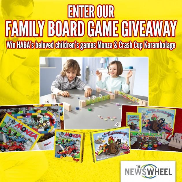 The News Wheel HABA Board Game Giveaway post