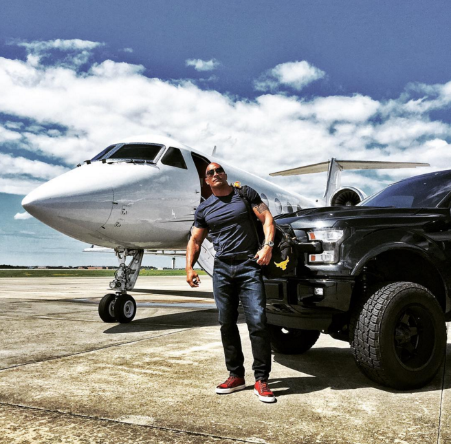 Dwayne Johnson Displays His Affection For The Ford F 150 Via Instagram The News Wheel