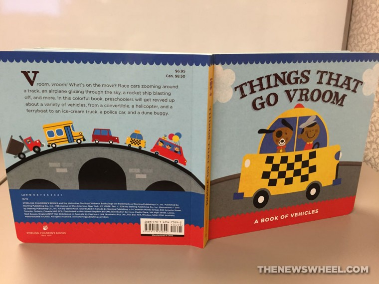 things that go vroom childrens board book review