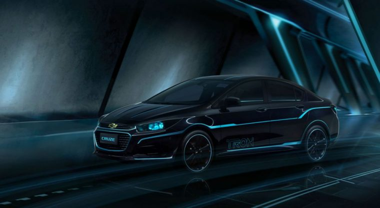 This Chevy Cruze show car was inspired by the film Tron:Legacy and recently was showcased at the 2016 Beijing Auto Show